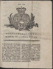 Gazeta Warszawska. R.1774 Nr 104