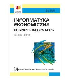 Spis treści [Informatyka Ekonomiczna = Business Informatics, 2015, Nr 4 (38)]