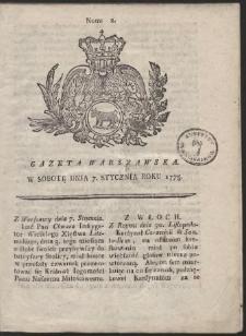 Gazeta Warszawska. R.1775 Nr 2