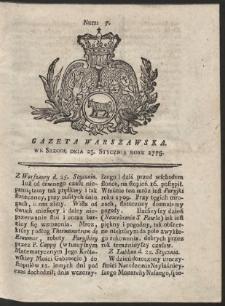 Gazeta Warszawska. R.1775 Nr 7