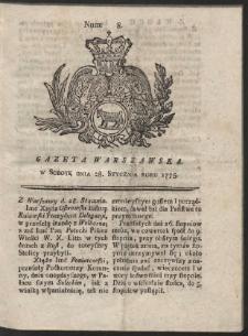 Gazeta Warszawska. R.1775 Nr 8