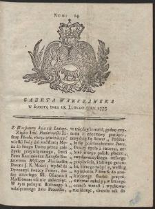 Gazeta Warszawska. R.1775 Nr 14