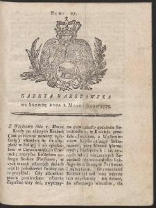Gazeta Warszawska. R.1775 Nr 17