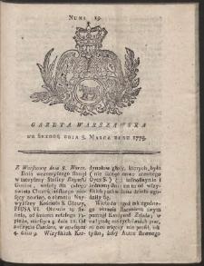 Gazeta Warszawska. R.1775 Nr 19