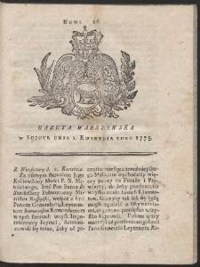 Gazeta Warszawska. R.1775 Nr 26