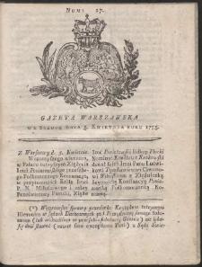 Gazeta Warszawska. R.1775 Nr 27