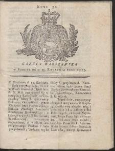 Gazeta Warszawska. R.1775 Nr 30