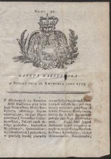 Gazeta Warszawska. R.1775 Nr 32