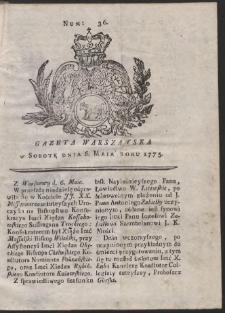 Gazeta Warszawska. R.1775 Nr 36