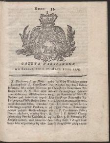 Gazeta Warszawska. R.1775 Nr 37
