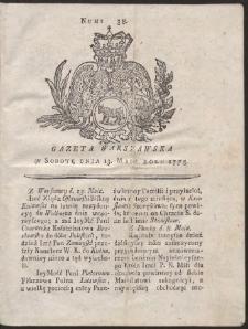 Gazeta Warszawska. R.1775 Nr 38
