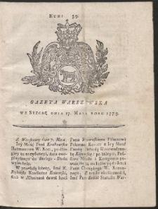 Gazeta Warszawska. R.1775 Nr 39