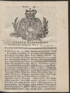 Gazeta Warszawska. R.1775 Nr 43