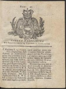 Gazeta Warszawska. R.1775 Nr 47
