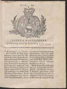 Gazeta Warszawska. R.1775 Nr 49