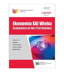 Spis treści [Ekonomia XXI Wieku = Economics of the 21st Century, 2018, Nr 3 (19)]