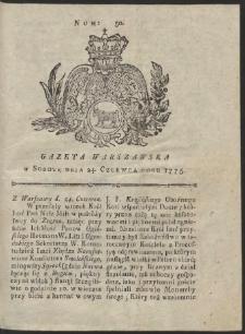 Gazeta Warszawska. R.1775 Nr 50