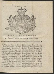 Gazeta Warszawska. R.1775 Nr 55