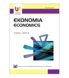 Spis treści [Ekonomia = Economics, 2013, Nr 1 (22)]