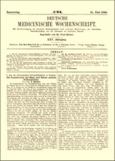 Die Desinfection der Haut und Hände mittels Seifenspiritus, Deutsche Medicinische Wochenschrift, 1899, Jg. 25, No. 24, S. 385-387