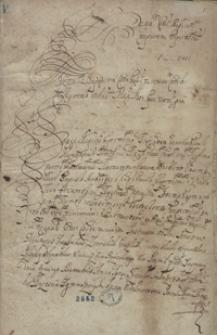 Instrukcya z sejmiku brzeskiego lit. [...] na sejm do Grodna a. 1678 dana