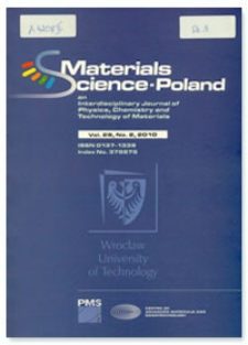 Materials Science-Poland : An Interdisciplinary Journal of Physics, Chemistry and Technology of Materials, Vol. 28, 2010, Nr 2