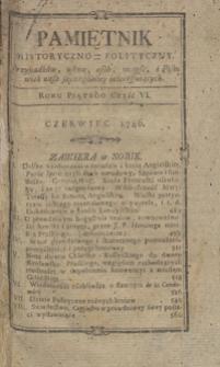 Pamiętnik Historyczno-Polityczny Przypadków, Ustaw, Osób, Miejsc i Pism wiek nasz szczególnie interesujących. R.1786 T.2 (Czerwiec)