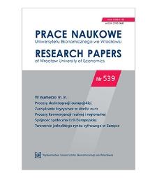 Spis treści [Prace Naukowe Uniwersytetu Ekonomicznego we Wrocławiu = Research Papers of Wrocław University of Economics; 2018; Nr 539]