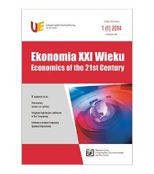 Spis treści [Ekonomia XXI Wieku = Economics of the 21st Century, 2014, Nr 1 (1)]