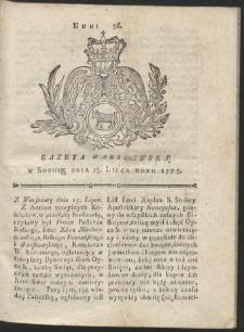 Gazeta Warszawska. R.1775 Nr 56