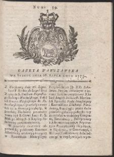 Gazeta Warszawska. R.1775 Nr 59