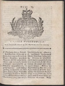 Gazeta Warszawska. R.1775 Nr 63