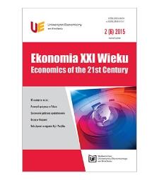 Spis treści [Ekonomia XXI Wieku = Economics of the 21st Century, 2015, Nr 2 (6)]