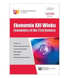 Spis treści [Ekonomia XXI Wieku = Economics of the 21st Century, 2015, Nr 3 (7)]
