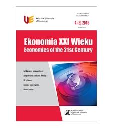Spis treści [Ekonomia XXI Wieku = Economics of the 21st Century, 2015, Nr 4 (8)]