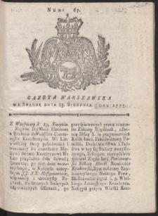 Gazeta Warszawska. R.1775 Nr 67