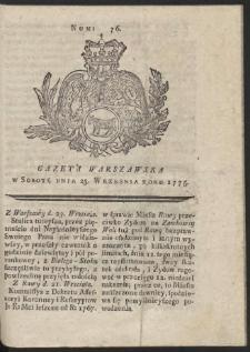 Gazeta Warszawska. R.1775 Nr 76