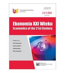 Spis treści [Ekonomia XXI Wieku = Economics of the 21st Century, 2016, Nr 3 (11)]