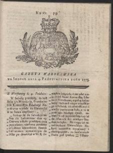 Gazeta Warszawska. R.1775 Nr 79