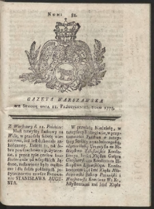 Gazeta Warszawska. R.1775 Nr 81