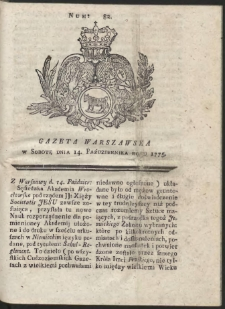 Gazeta Warszawska. R.1775 Nr 82