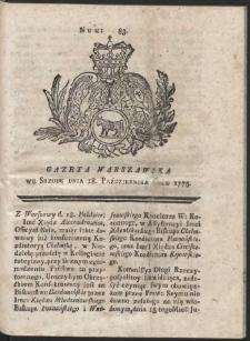 Gazeta Warszawska. R.1775 Nr 83