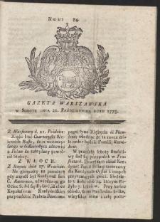 Gazeta Warszawska. R.1775 Nr 84