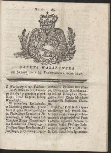 Gazeta Warszawska. R.1775 Nr 85