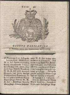 Gazeta Warszawska. R.1775 Nr 90