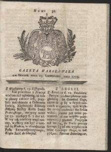 Gazeta Warszawska. R.1775 Nr 91