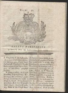 Gazeta Warszawska. R.1775 Nr 92