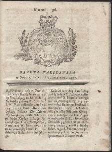 Gazeta Warszawska. R.1775 Nr 96