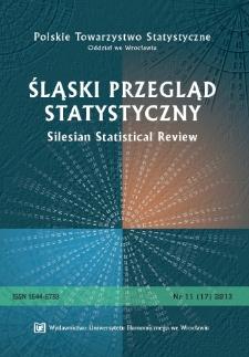 Spis treści [Śląski Przegląd Statystyczny = Silesian Statistical Review, 2013, Nr 11 (17)]