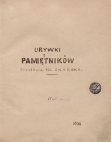 Urywki z pamiętników [z lat 1792-1809]